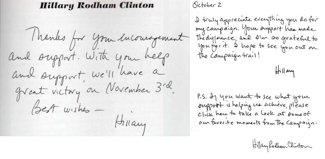 כתב ידה של הילרי קלינטון - ניתוח גרפולוגי באתר שבא גרפולוגיה
