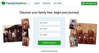 """איתור קרובי משפחה בארה""""ב - FamilyTreeNow.com"""