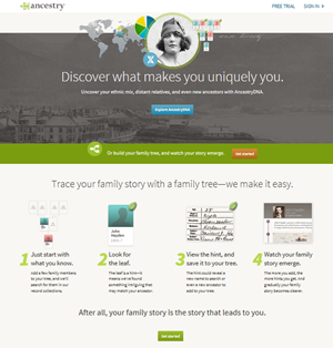 חפש את קרובי המשפחה שלך בארהב באתר Ancestry