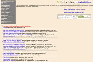 חיפוש שורשים משפחתיים וקרובי משפחה בארצות הברית באתר One-Step Webpages