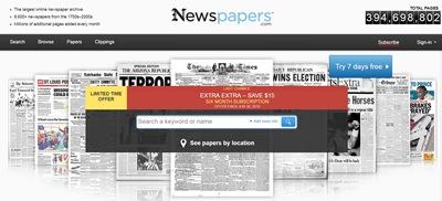 """חיפוש מידע בארה""""ב על קרובי משפחה באתר Newspapers.com"""