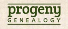 Progeny Genealogy תוכנות גנאלוגיות