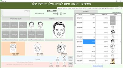 תוכנת שורשים - תוכנת עץ משפחה בחינם בעברית