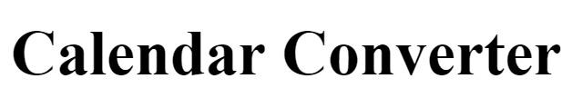 מחשבון Calendar Converter
